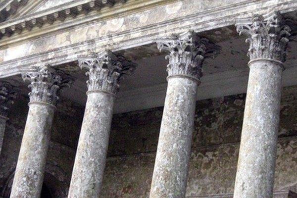Las columnas romanas se construyeron principalmente como estructuras de apoyo.