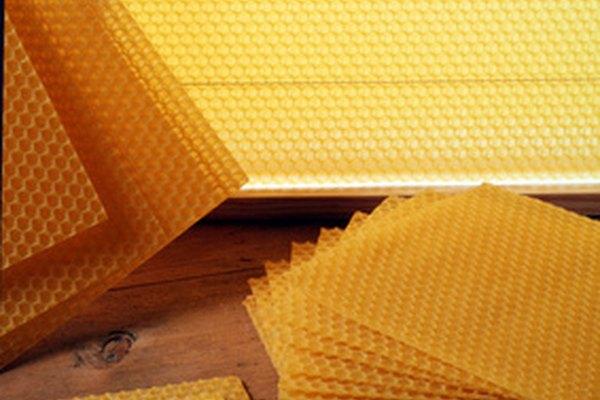La cera de abeja previene la fuga de aire.
