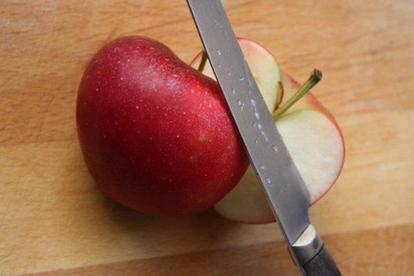 Una vez que se corta la manzana, la oxidación comienza a suceder rápidamente.