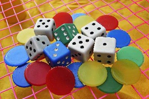 Piezas de juegos tradicionales de mesa.