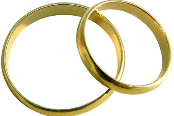 Argollas para boda de oro.
