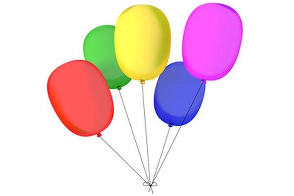 Los globos de helio suben debido a la gravedad específica menor a 1,0.