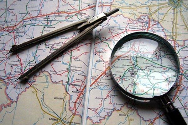 Algunos mapas muestran los accidentes geográficos.