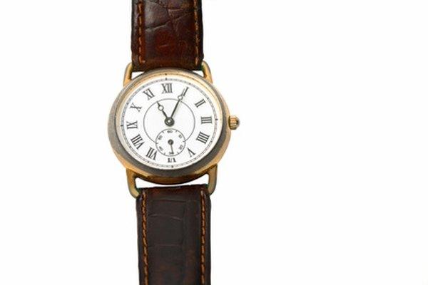 La reparación de una correa de caucho de un reloj es simple.