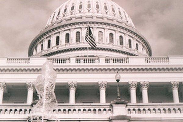 El edificio del Capitolio norteamericano, con columnas romanas.