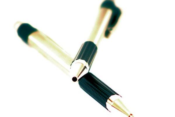 Los bolígrafos pueden ser publicidad para negocios.