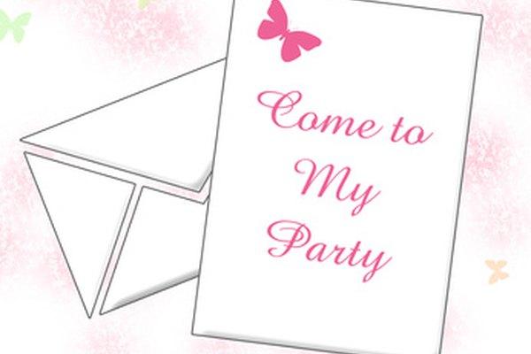 Una invitación única puede atraer a la gente a venir a tu evento.