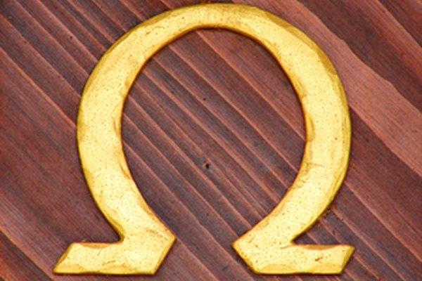 La letra griega omega es usada como un logo para los relojes Omega.