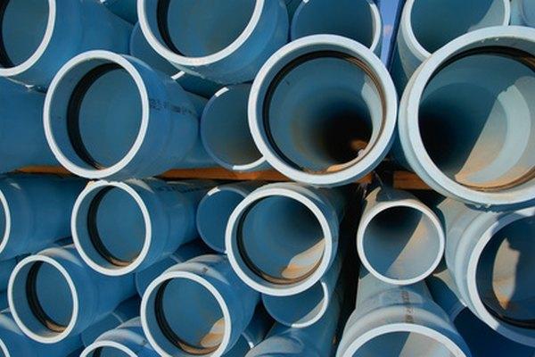 Las tuberías de ABS y PVC son usadas en la industria de la construcción.