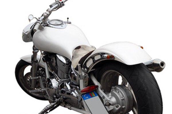 Una motocicleta.