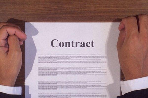 Un contrato comercial se compone de varios elementos.