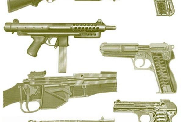 Hay una amplia variedad de armas de fuego.