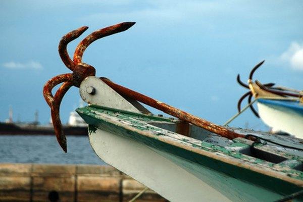 Ejemplo de un ancla rezón, la cual funciona bien para barcos más pequeños.