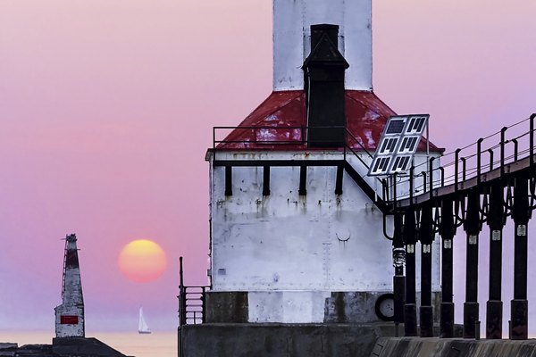 Idyllic Lighthouse Sunset