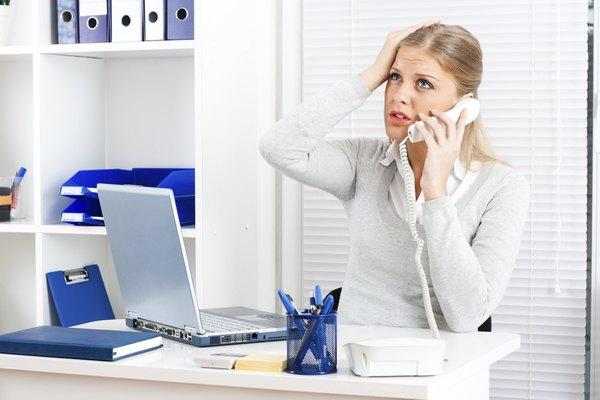 Concerned businesswoman