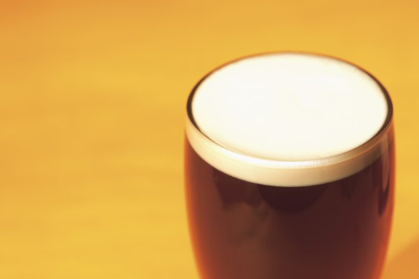 close-up of a glass of beer