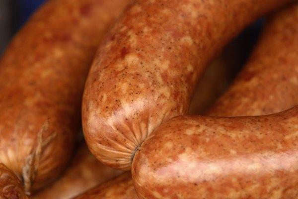Close-up of sausage links