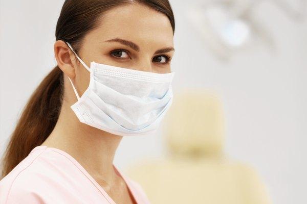Portrait of a nurse, wearing a mask