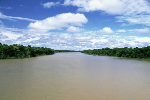 The Breves Narrows on the Amazon River, Brazil