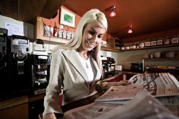 Los clientes buscan activamente publicidad en los periódicos locales.