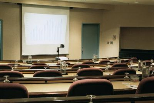 Projectors are commonly used to give lectures or presentations.