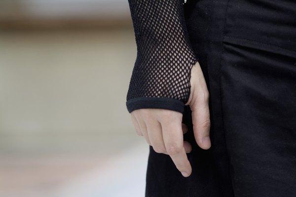 Las medias de red de tejido abierto y generalmente negras a menudo son usadas por bailarines o aquellos que visten un estilo