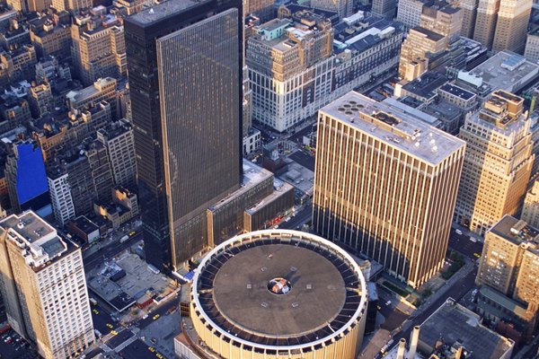 Aerial view of Madison Square Garden in New York City