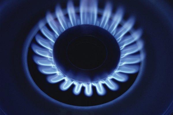 Puedes ajustar la llama de una cocina a gas.