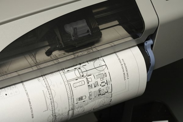 Una impresora de gran formato para un trabajo de arquitectura.