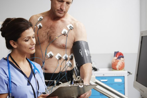 Man Getting Cardiovascular Test