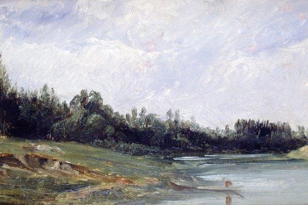 Los paisajes realistas en el norte de Europa eran una marca del Renacimiento italiano.