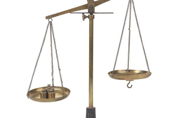 Una balanza muy sencilla de doble recipiente