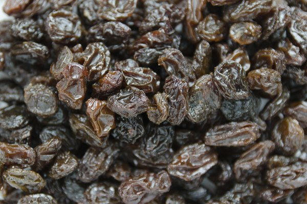 Close up for black raisins