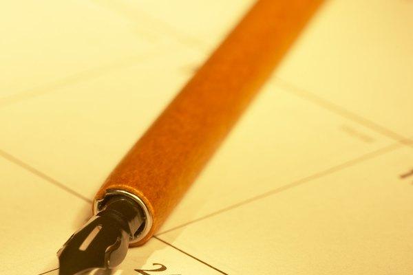 Las plumillas no contienen tinta en el mango de la pluma.