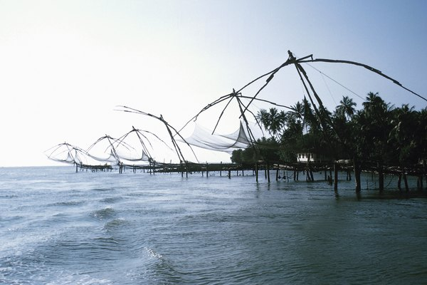 Chinese fish traps in Cochin, India
