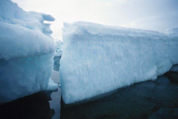 El clima antártico, ejemplo de clima frío.