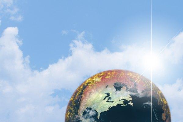 La temperatura de la Tierra se eleva debido al calentamiento global.