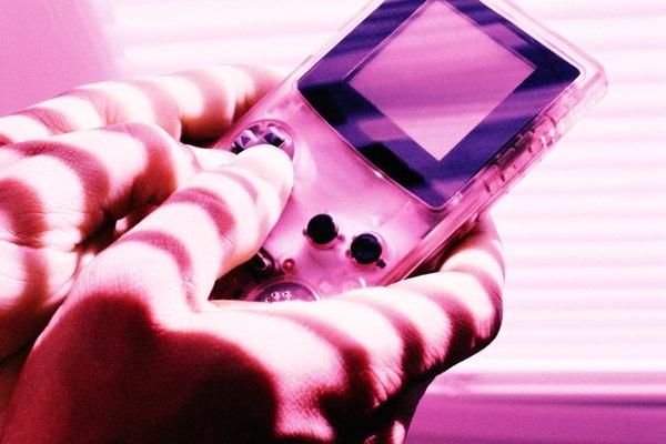 Consola de juegos de mano.