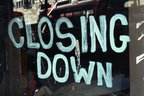 Muchos negocios o empresas pueden ir a la quiebra por múltiples razones.