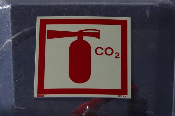 El CO2 también se usa en los extintores.