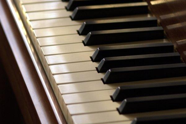 El teclado del piano contiene las notas de todos los instrumentos.