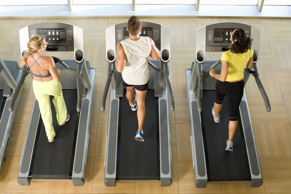 People using treadmills