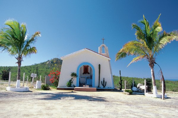 Facade of a Family Chapel, Baja California, Mexico