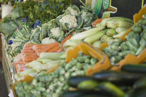 Dónde encontrar frutas y verduras.