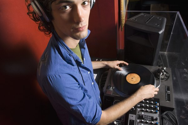 Disc jockey with turntable