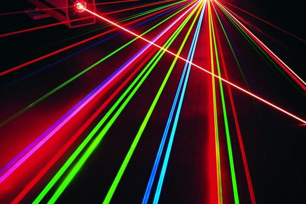 Existe una gran variedad de colores de luces láser.