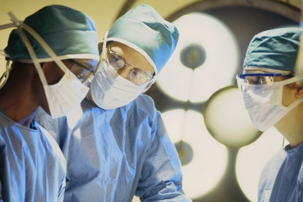 Team of surgeons in operating room