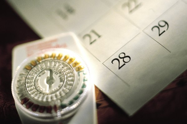 Birth control pills and calendar