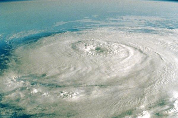 Imagen satélital de un huracán.