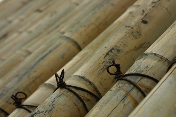 Amarra cañas de bambú para crear estructuras resistentes.